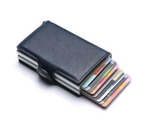 Kreditkartenetui RFID Schutz Karten Geldbörse Portemonnaie Brieftasche/Portmonee, schwarz
