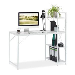 relaxdays Schreibtisch mit Regal