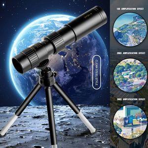 10-300 x 40mm Zoom Teleskop Spektiv + Handy Adapter Astronomie Fernrohr Wasserdicht