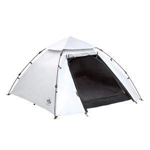 Lumaland Outdoor leichtes Pop Up Kuppelzelt hitzeabweisend - Cool Reflective für 3 Personen 215 x 195 x 120 cm mit Tragetasche