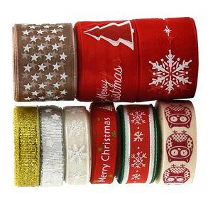 Dekoband Schleifenband Weihnachten Hochzeit Party Geschenkband Set