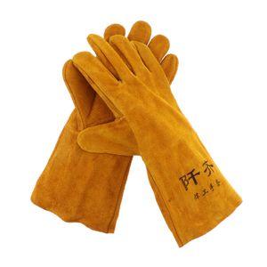 Leder Schweißhandschuhe Hitzebeständig, Handschuhe Für Ofen Grill Kamin