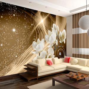 Vlies Tapete  Top  Fototapete  Wandbilder XXL  400x280 cm  ABSTRAKT BLUMEN ORNAMENT MAGNOLIEN STERN GLANZ b-A-0237-a-b