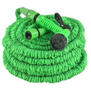 Juskys Flexibler Gartenschlauch Aqua 45 m  - Wasserschlauch flexibel dehnbar – Flexischlauch knickfest mit 7-Funktions-Handbrause & Adapter – Grün