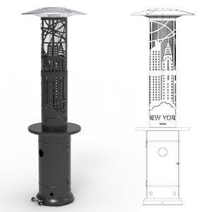 Heizpilz Bellamente DESIGN, Farbe:schwarz, Modell:New York