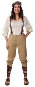 Knickerbocker Damen Cord Hose 20er Jahre Peaky Blinders Kostüm , Größe:44/46