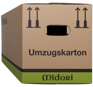 20x UMZUGSKARTONS MIDORI PROFI 2-WELLIG sehr stabile Karton 630 x 285 x 305mm
