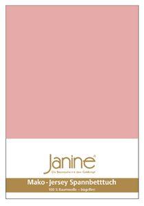 Janine Spannbetttuch Mako-Feinjersey 5007 100x200 cm / zartmauve