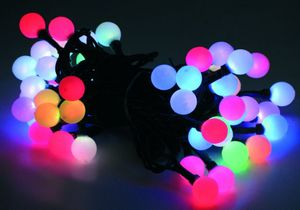 50er LED Farbwechsel-Lichterkette - LED-Farbmix - 50 Kugeln