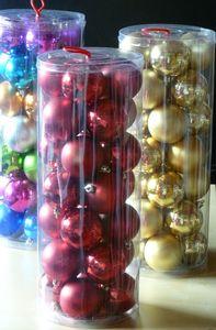 28 Weihnachtskugeln Rot  Ø 6 cm Kugeln Weihnachten Christbaumkugel