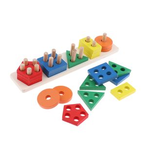 Multicolor Geometrie Geobrett Farben und Formen Stapeln Holzpuzzle Steckspiel Sortierspiel