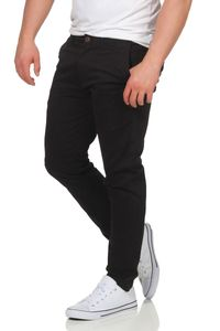 JACK & JONES Chinoshose mit Stretchanteil , Farbe:Black / Schwarz, Hosengröße:W33/L34