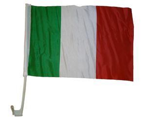 Autoflagge Italien 30 x 40 cm - Autofahne Fahne Flagge Fenster Fensterflagge Fensterfahne Fanflagge Fanfahne Scheibenfahne Scheibenflagge WM EM