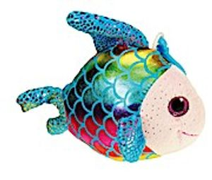 Plüsch-Fisch Blau
