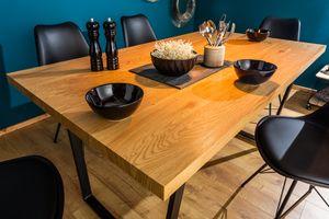 Design Esstisch LOFT 160cm mit Kufengestell Industrial Style EichenoptikTisch Holztisch Konferenztisch