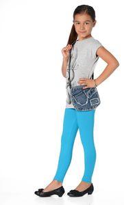 Mädchen Kinder Leggings in 23 Farben Baumwolle, Türkis 116