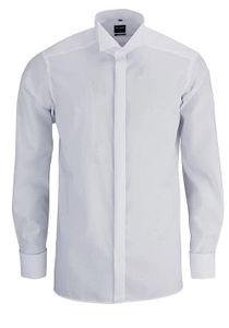 Olymp Modern Fit Gala Hemd Langarm Uni Popeline Weiß 0395/65/00, Größe: 43