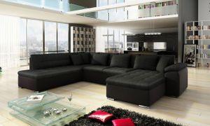 Mirjan24 Ecksofa Niko Bis, Bettkasten und Schlaffunktion, Sofa vom Hersteller, Wohnlandschaft, Polstergarnitur (Soft 011 + Porto 36, Seite: Rechts)