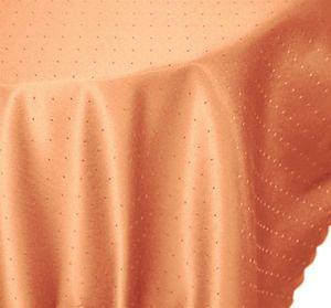 Tischdecke 130x220 cm orange oval Mitteldecke Punkte bügelfrei fleckenabweisend