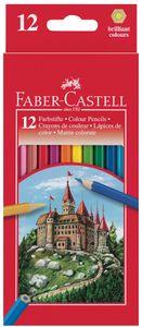 FABER-CASTELL Hexagonal Buntstifte CASTLE 12er Kartonetui