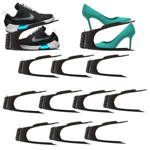 10er Set Schuhe Organizer Aufbewahrung   Schuhhalter Schuhstapler Schuhorganizer   Schuhaufbewahrung Platzsparend   Schuhbox Schuhregal