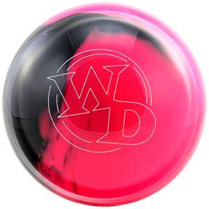 Bowling Ball White Dot pink black, Bowlingkugel 9 lbs