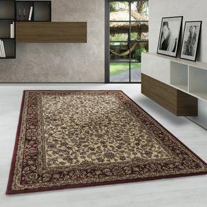 Kurzflor Orientteppich, meliert klassik Wohnzimmerteppich, Antik Ornamente,CREME, Maße:120 cm x 170 cm