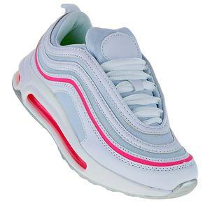 Neon Luftpolster Turnschuhe Schuhe Sneaker Sportschuhe Neu Damen 041, Schuhgröße:41, Farbe:Pink