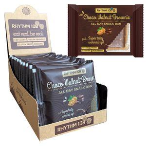 All Day Snack Bar Choco Walnut Brownie 12 x 40g (480g) Vegan Glutenfrei von Rhythm 108