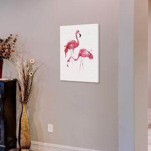 Flamingo Wandbilder Kunstdruck Wohnzimmer Schlaftzimmer Deko Flamingo L Mittel (bis zu 36 Zoll) Art Deco