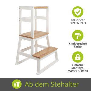 BOMI® Learning Tower für Baby & Kleinkinder | Trittschemel Kinderschemel aus Holz | Kinderhocker & Tritthocker | Steherhöhung als Kindermöbel | Schemel für die Küche oder als Badhocker | Lernturm Lerntower Lernstuhl in Natur