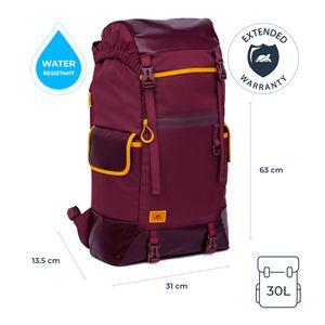 RIVACASE 5361 Wasserdichter Rucksack mit Laptopfach - Wanderrucksack 30l Rucksack für Damen Herren Laptop Rucksack 17.3 Zoll - Tagesrucksack Daypack Rucksack für Freizeit Arbeit Wandern