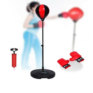Kinder Standboxsack Boxhandschuhe verstellbar Punching Ball Boxbirne Boxsack Set Sport
