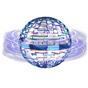 Flynova Pro Flying Ball Bumerang Spinner Dynamische RGB-Lichter Double Pass,Fliegendes Spielzeug, Flynova Pro Ball Flugspielzeuge Fliegender Spinner 360° Drehbare Rotierende LED Leuchten für Kinder Erwachsene (Blauer Ball) Bumerang