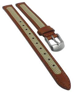 Timex Damen Uhrenarmband 12mm | Materialmix braun/beige TW4B11900