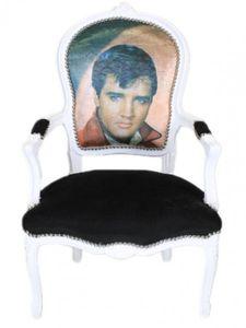 Casa Padrino Barock Salon Stuhl Elvis Presley - Barock Antik Stil Möbel
