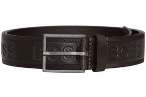 Boss 50430111-202 Herrengürtel Tril-Logo Dunkelbraun, 95 cm