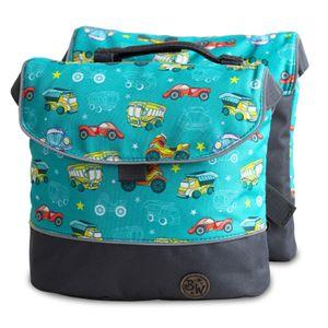 BAMBINIWELT Gepäcktasche, Gepäckträgertasche für Fahrrad, Fahrradtasche für Kinder, wasserabweisend, Modell 2