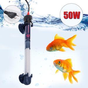 Aquarium Heizung Tauchautomatik-Heizung Aquarium Warmwasserbereiter 50W Einstellbare Temperatur mit Saugnaepfen