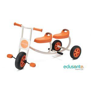 edusante EM5504 2-Sitzer Taxi Tretfahrzeug für Kinder, 114 x 55 x 61,3 cm, orange/weiß/schwarz