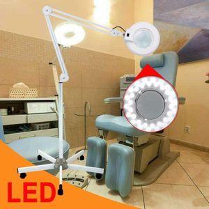 LED Dimmbar 8X Lupenlampe Tischklemme  Lupenleuchte 24W 5D Stehleuchte Beauty Kosmetik Kaltlicht Lampe Dioptrien Vergrößerung Standlupe
