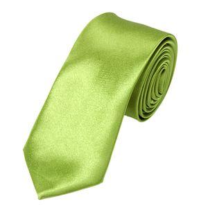 schmale Krawatte Herren Slim Uni Tie Hochzeit Business Schlips dünn