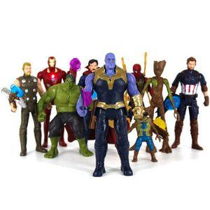8 Stk 15CM ABS-Kunststoffe Action Figuren Spielzeug Modell Iron-Man/Spider-Man/Thor/Black Panther/Thanos Actionfiguren