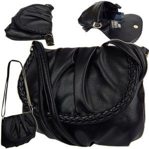 mini Abendtasche  kleine elegante Damentasche, Handtasche Umhängetasche  - Schwarz