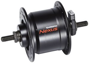 Shimano Nexus DH-C3000-3N Nabendynamo 3 Watt für Felgenbremse/Schraubachse schwarz Ausführung 36H