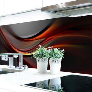 Küchenrückwand Abstrakt Dunkel Premium Hart-PVC 0,4 mm selbstklebend - Direkt auf die Fliesen, Größe:400 x 60 cm