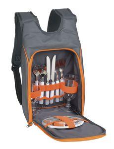 TOPICO Picknick-Rucksack SMART TRIP, Farbe:grau / orange