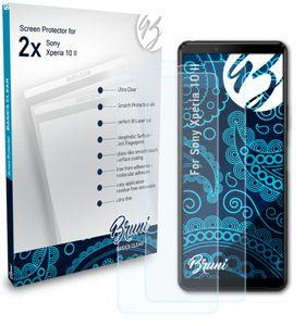 Bruni Basics-Clear 2x Schutzfolie kompatibel mit Sony Xperia 10 II Folie