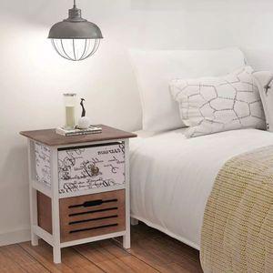 【Neu】Nachttische Nachttisch Holz Gesamtgröße:30 x 28 x 46 cm BEST SELLER-Möbel-Tische-Nachttische im Landhaus-Stil