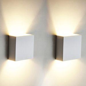 Miixia COB LED Wandleuchte Wandlampe Flur Strahler Licht Up Down Außen/Innen 6W Modern Warmweiss Weiss